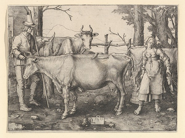 Fascinating Historical Picture of Lucas van Leyden with The Milkmaid in 1510