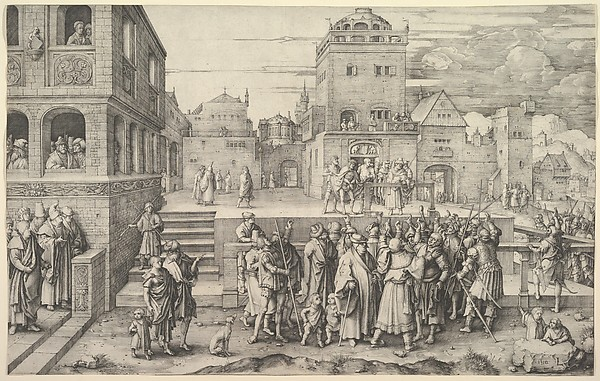 Fascinating Historical Picture of Lucas van Leyden with Ecce Homo in 1510
