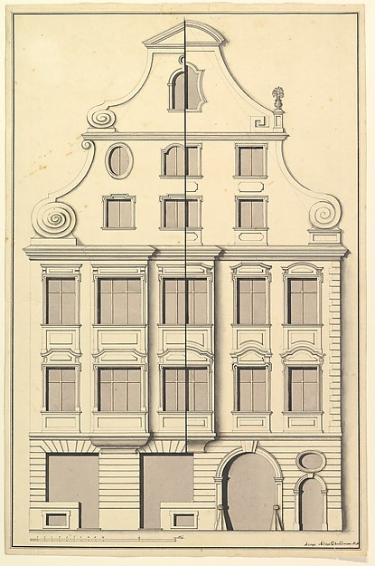 Drawing for the Street Elevation of a Town House