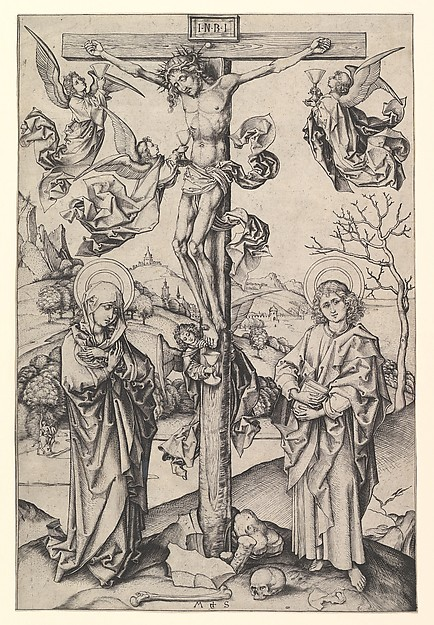 Crucifixion with Four Angels