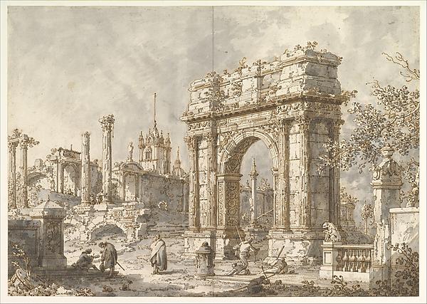 Capriccio with a Roman Triumphal Arch