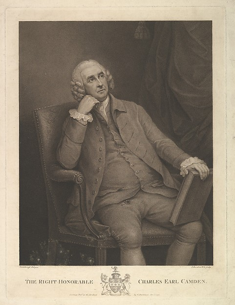 The Right Honorable Charles Pratt, 1st Earl Camden, Lord Chancellor