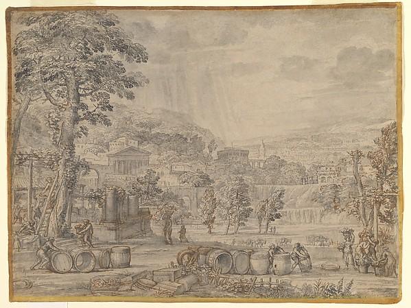 Landscape with Wine Harvest