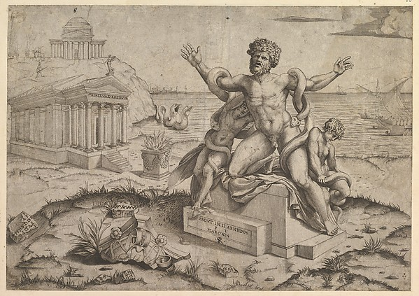 Speculum Romanae Magnificentiae: Ancient bas-reliefs with Laocoon