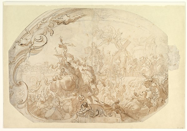 Study for Emperor Heraclius Carrying the Cross into Jerusalem
