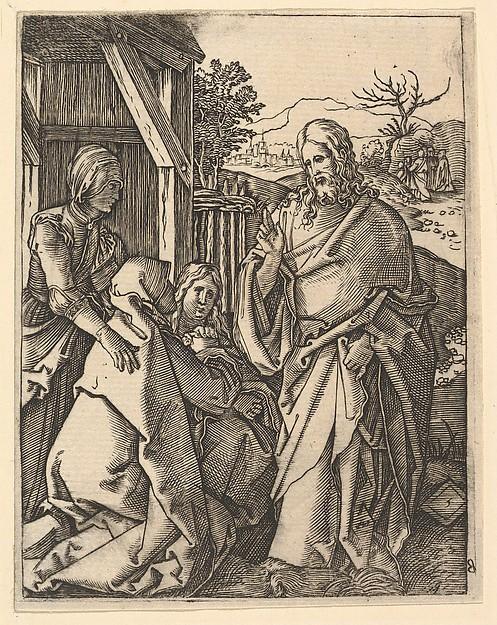 Christ Taking Leave of His Mother, after Dürer
