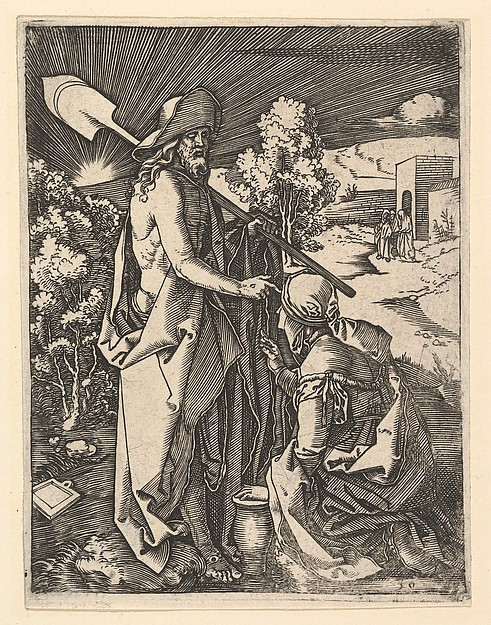 Christ Appearing to the Magdalen as a gardener, after Dürer