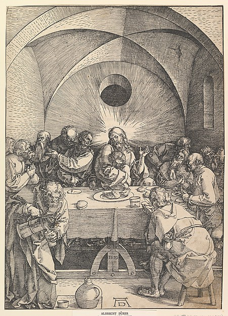This is What Albrecht Drer and The Last Supper from The Large Passion Looked Like  in 1510