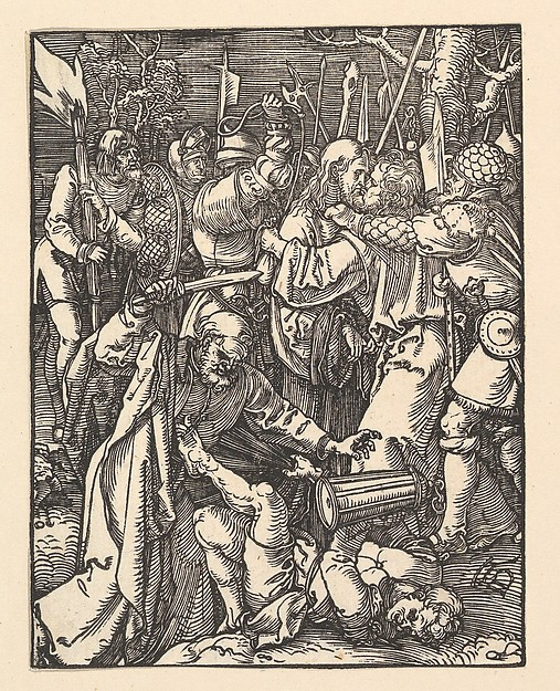 Fascinating Historical Picture of Albrecht Drer with The Betrayal of Christ from The Small Passion in 1509