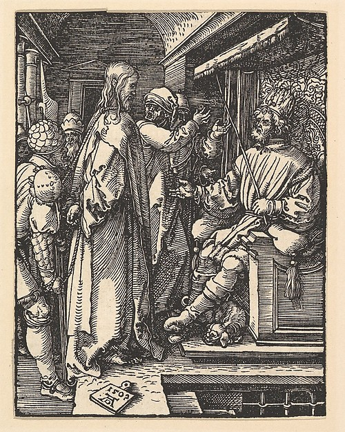 Fascinating Historical Picture of Albrecht Drer with Christ before Herod from The Small Passion in 1509