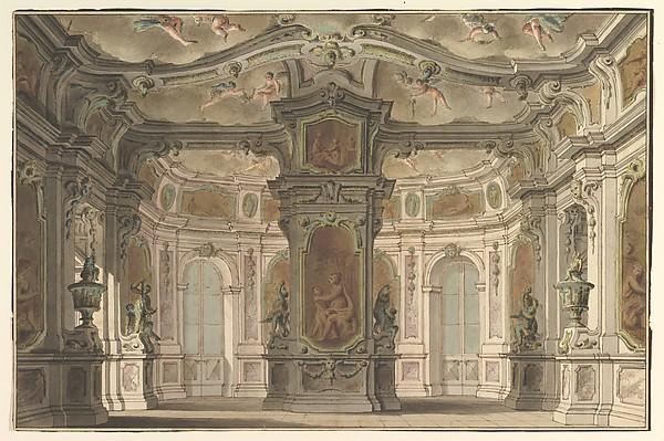 Design for an Opera Set, a Congress of Cupids