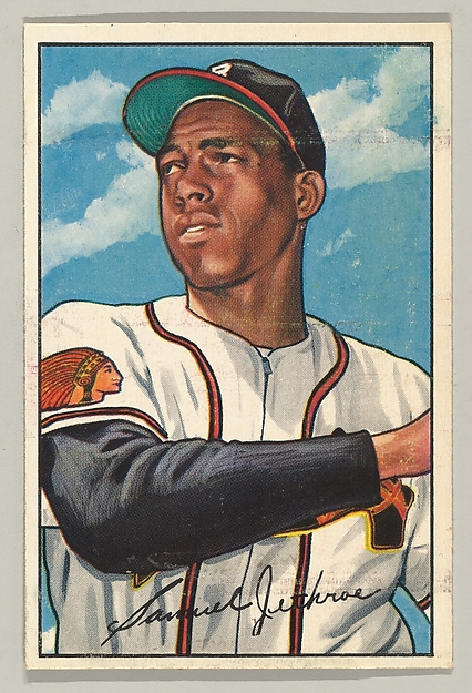 Sam Jethroe, Outfielder, Boston Braves, from the series Picture Cards (no. 84)