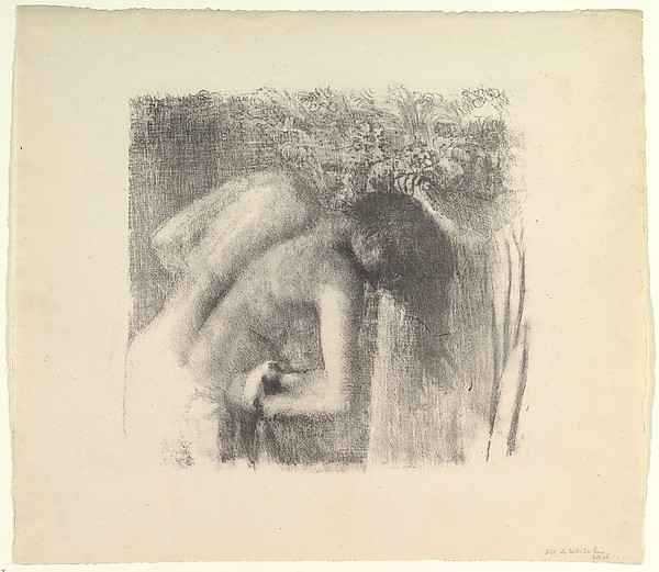 This is What Edgar Degas and After the Bath (large version) Looked Like  in 1891