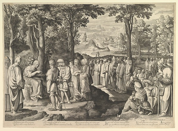 John the Baptist Preaching in the Desert