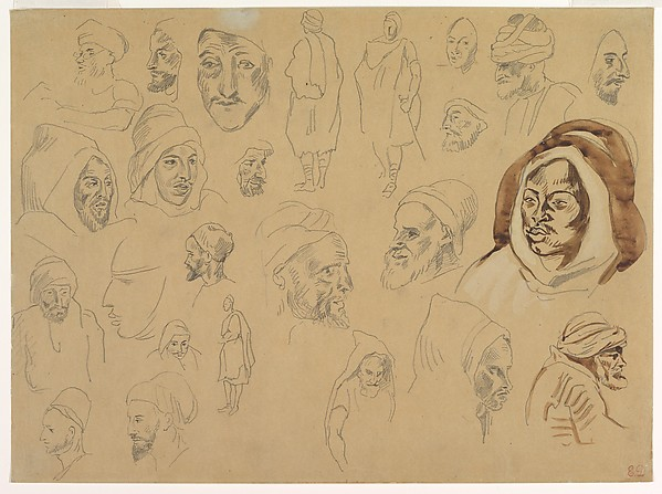 Studies of Arab Heads and Figures