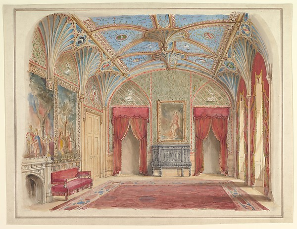 Design for the Decoration of the Drawing Room at Eastnor Castle, Hertfordshire