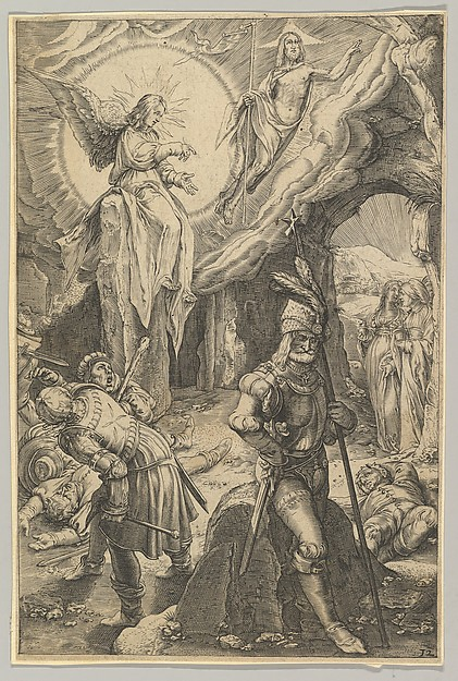 Fascinating Historical Picture of Ludovicus Siceram with The Resurrection from The Passion of Christ in 1623