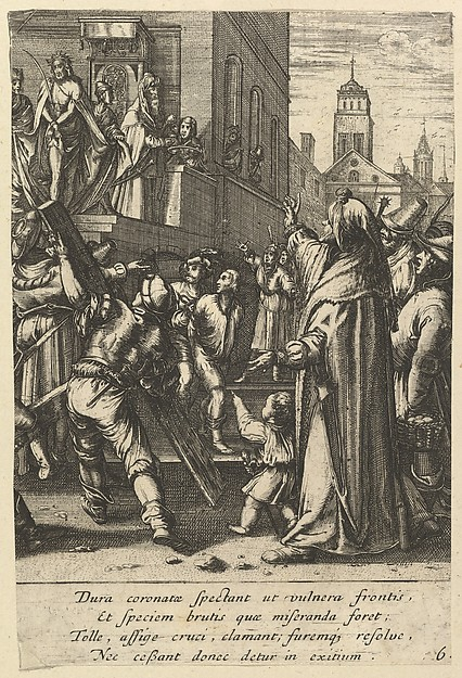 Ecce Homo, from The Passion of Christ (after H. Goltzius)