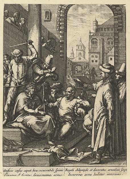 The Mocking of Christ, from The Passion of Christ (after H. Goltzius)