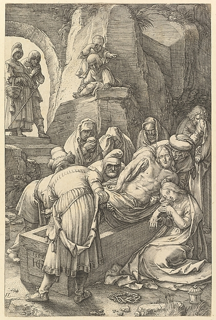 Fascinating Historical Picture of Hendrick Goltzius with The Entombment from The Passion of Christ in 1596