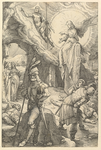 Fascinating Historical Picture of Hendrick Goltzius with The Resurrection from The Passion of Christ in 1596