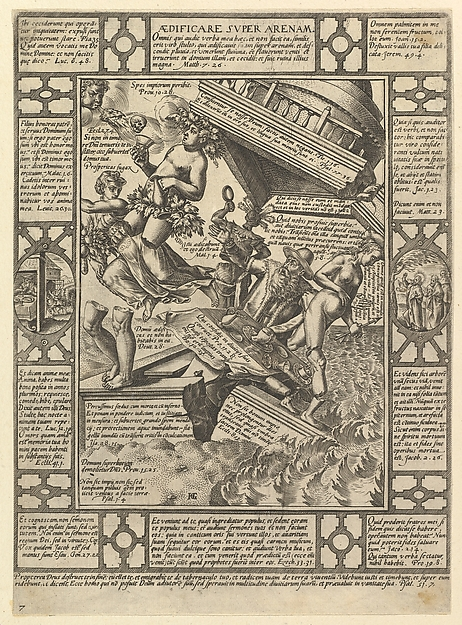 Aedificare Super Arenam, from Allegories of the Christian Faith, from Christian and Profane Allegories
