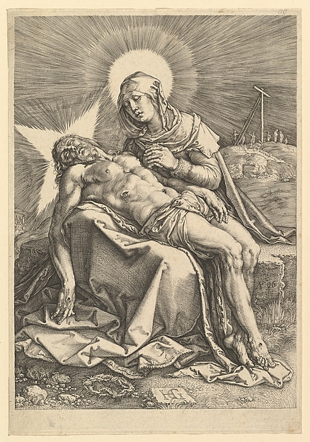 Fascinating Historical Picture of Hendrick Goltzius with Piet in 1596
