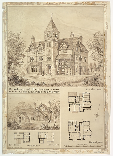 Residence at Hampstead, Stables and Ground Plan
