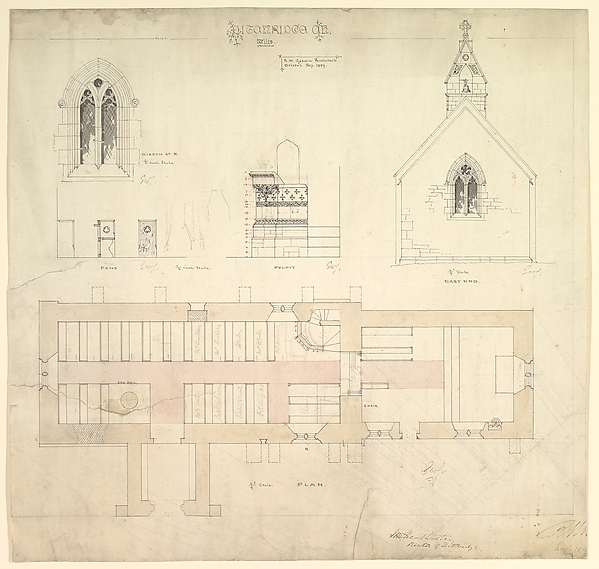 Designs for Ditteridge Church, Wiltshire