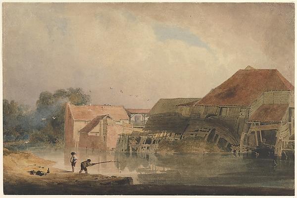 Riverside Scene (Old Mill)