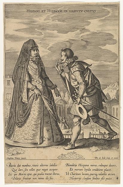 Hispani et Hispanae in Vestitu Cultus, from Fashions of Different Nations