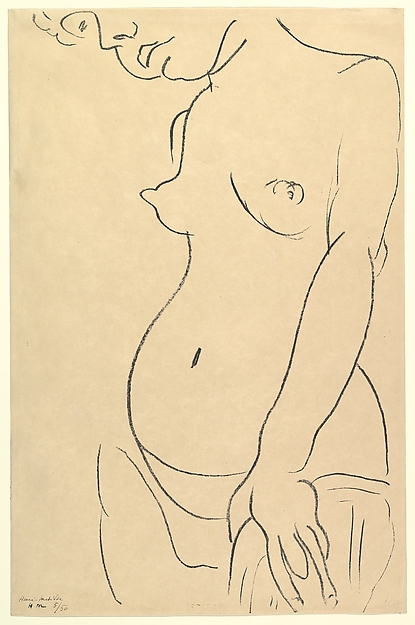 Nude from Three-Quarters, a part of the head cropped