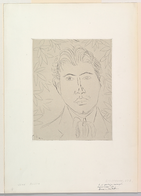 Head of a Man; Floral Background
