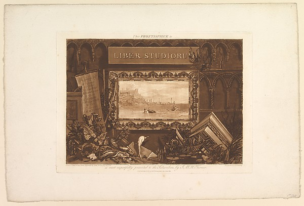 Fascinating Historical Picture of Joseph Mallord William Turner with The Frontispiece to Liber Studiorum on 5/15/1812
