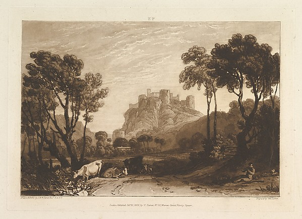 The Castle above the Meadows, from Liber Studiorum, part II