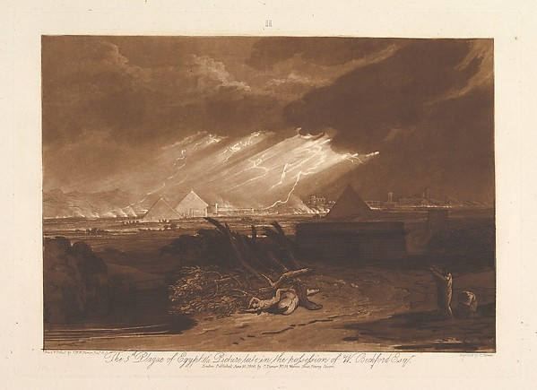 This is What Joseph Mallord William Turner and The Fifth Plague of Egypt (Liber Studiorum part III plate 16) Looked Like  on 6/10/1808