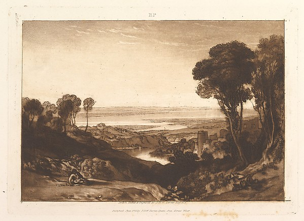 Fascinating Historical Picture of  with Junction of Severn and Wye (Liber Studiorum part VI plate 28) on 6/15/1811