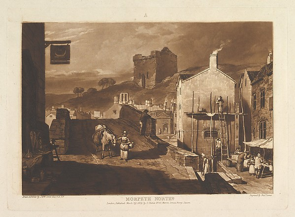 Fascinating Historical Picture of Joseph Mallord William Turner with Morpeth North (Liber Studiorum part IV plate 21) on 3/29/1809