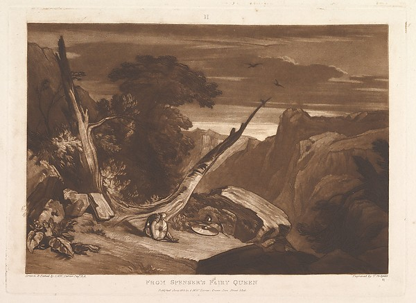 Fascinating Historical Picture of Joseph Mallord William Turner with From Spensers Fairy Queen (Liber Studiorum part VII plate 36) on 6/15/1811