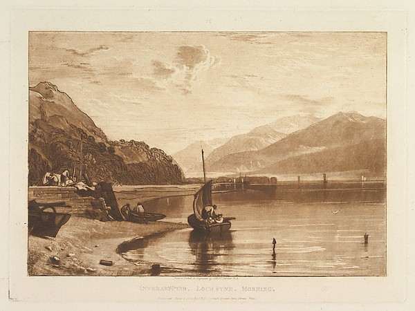 Inverary Pier, Loch Fyne, Morning, from Liber Studiorum, part VII
