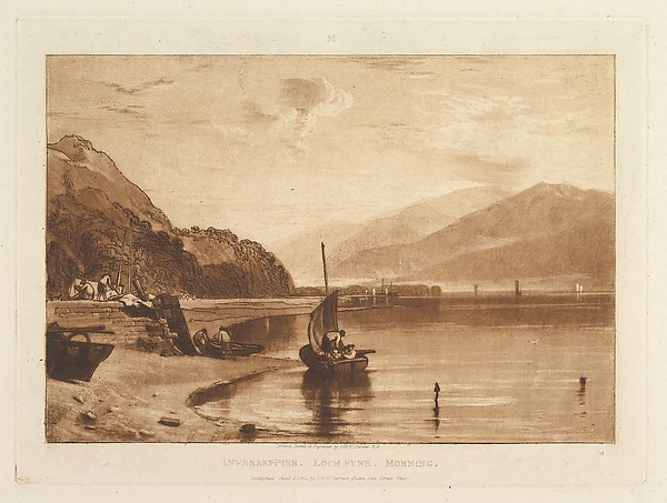 Fascinating Historical Picture of  with Inverary Pier Loch Fyne Morning (Liber Studiorum part VII plate 35) on 6/1/1811