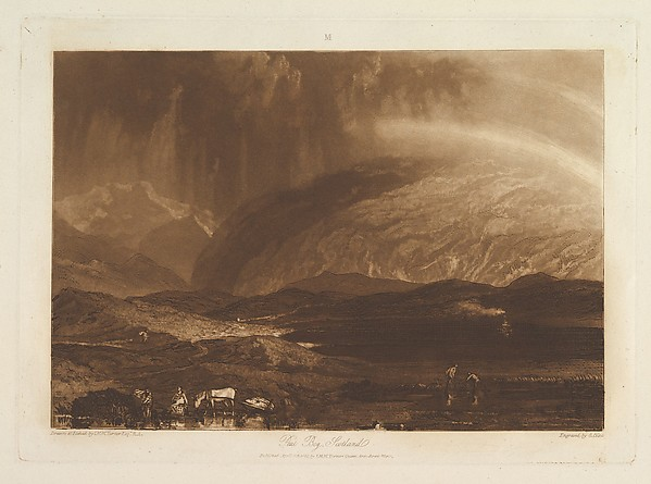 Fascinating Historical Picture of Joseph Mallord William Turner with Peat Bog Scotland (Liber Studiorum part IX plate 45) on 4/23/1812
