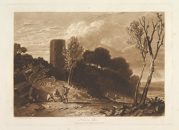 Fascinating Historical Picture of Joseph Mallord William Turner with Winchelsea Sussex (Liber Studiorum part IX plate 42) on 4/23/1812