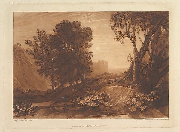 This is What Joseph Mallord William Turner and Solitude or The Reading Magdalen (Liber Studiorum part XI plate 53) Looked Like  on 5/12/1814