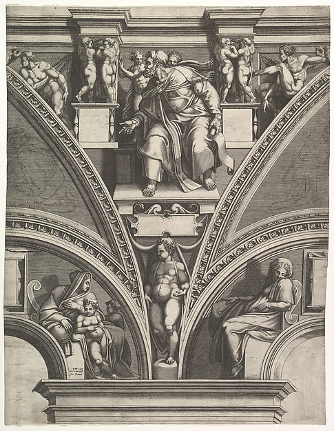 The Prophet Ezekiel; from the series of Prophets and Sibyls in the Sistine Chapel