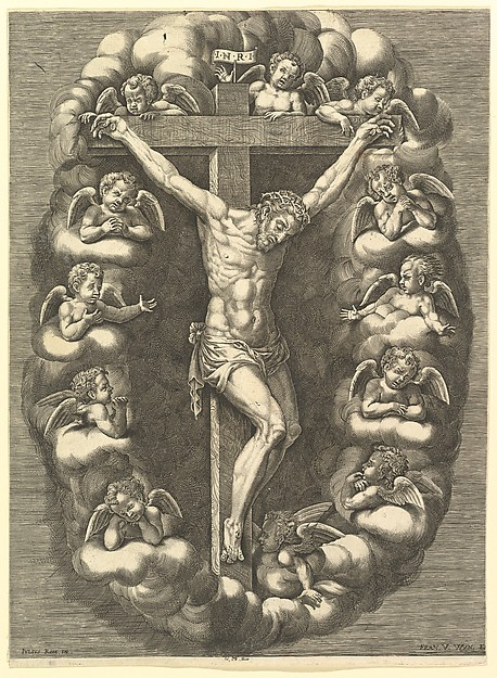 The Crucified Christ Surrounded by Mourning Angels