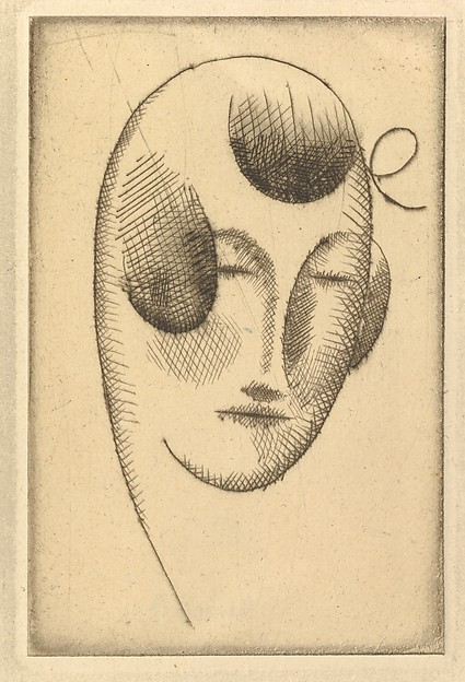 Female Head (Woman's Head with Ribbon)