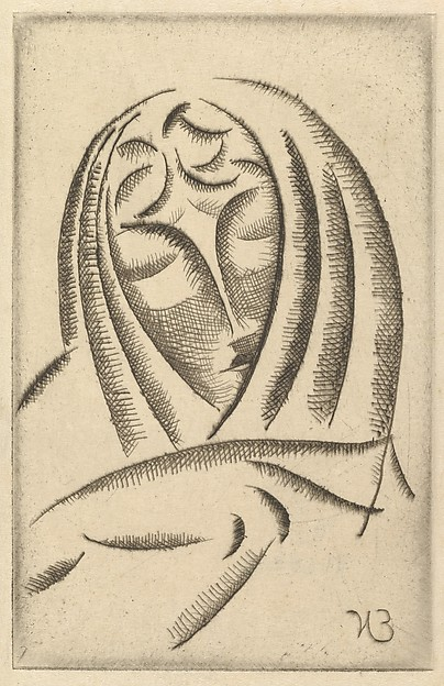 Female Head, Draped (Draped Woman&#39;s Head)