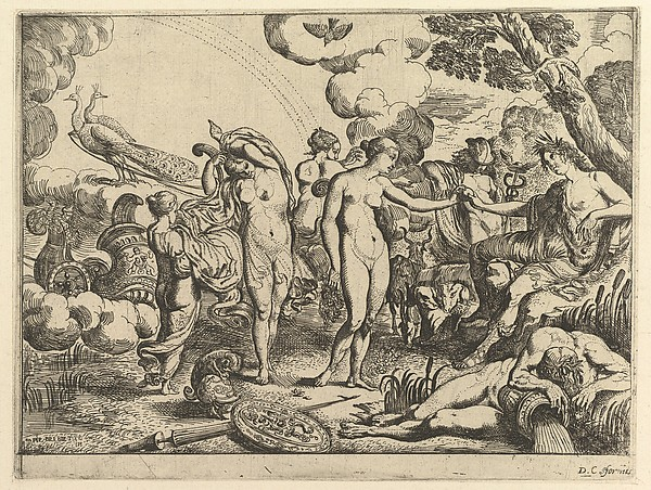 This is What Pierre Brebiette and Judgment of Paris Looked Like  in 1610
