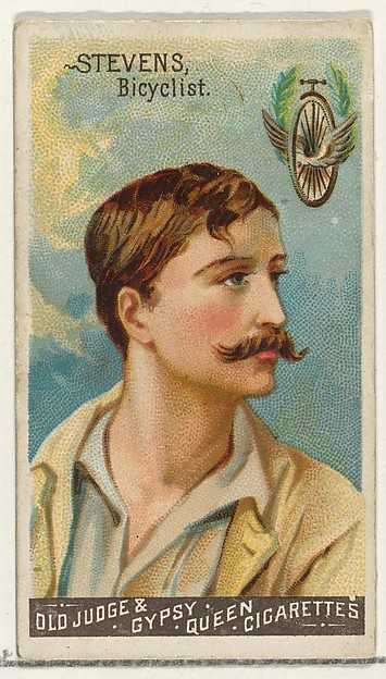 Stevens, Bicyclist, from the Goodwin Champion series for Old Judge and Gypsy Queen Cigarettes